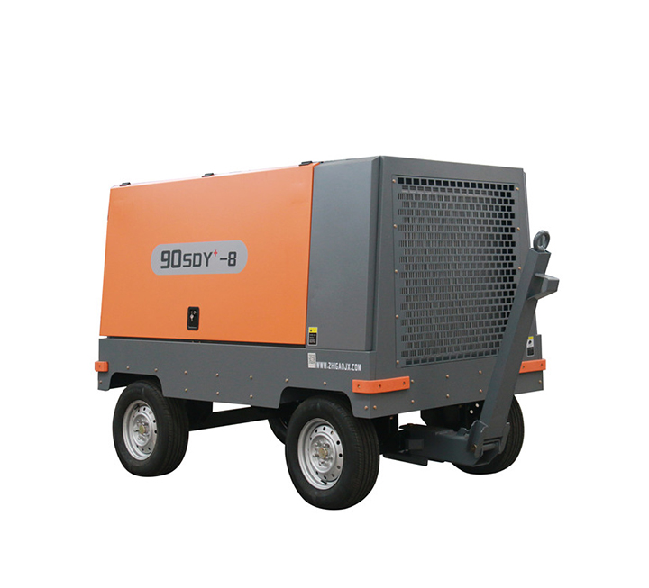 Medium sized mobile screw air compressor - electric mobile products
