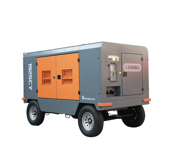 Heavy duty mobile screw air compressor diesel mobile products